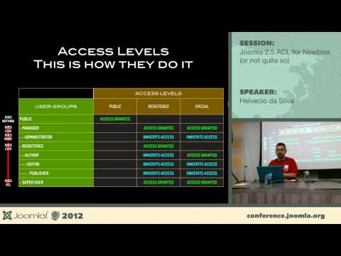 Joomla 2.5.x ACL For Newbies (or Not Quite So) - Helvecio Da Silva