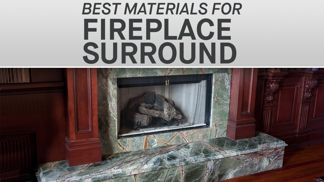 the best materials for your fireplace surround marble com youtube