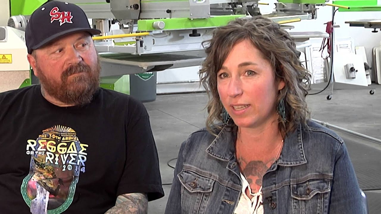 98a81367 Lotus Mountain Custom Screen Printing Family Owned Business - YouTube