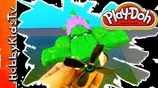 PLAY DOH Hulk Plane Ripslinger, Ironman Lightning McQueen - How to make Hulk Plane