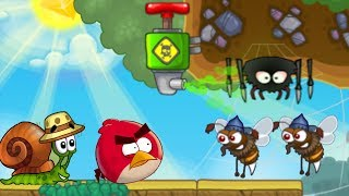 Angry Birds Escape - MEET SPIDER AND BEE IN DESERTED ISLAND