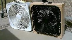 Homemade 12V DC Box Fan! - Full Size! - 100% solar! (or battery pwrd) - 100w panel/motor - Awesome!