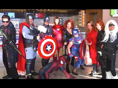 AVENGERS Invade Captain America Civil War Premiere - Marvel Real Life Parody