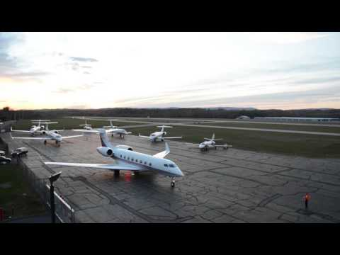 Dutchess County Airport Jet Departures (Time Lapse)