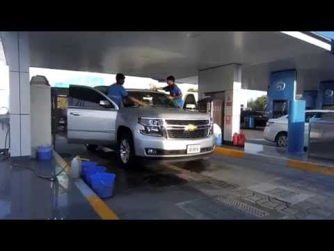Chevrlolet Tahoe 2015 car wash in ADNOC Abu Dhabi