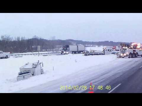 Accident I-94 Menomonie, Wisconsin (2-28-14) part 1