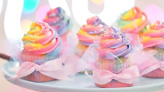 [파티피플 베이킹]오묘한 컬러의 레인보우 컵케이크 만들…