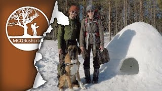 Overnight Igloo Camping & Cooking in the Wilderness