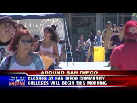 KUSI-SD: Classes at SDCCD Will Begin this Morning