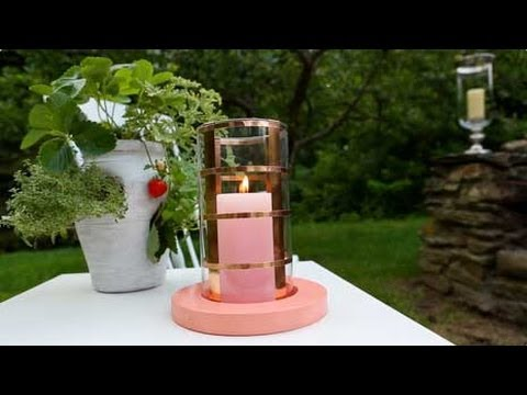 Diy Candle Holders With Copper Accents Youtube