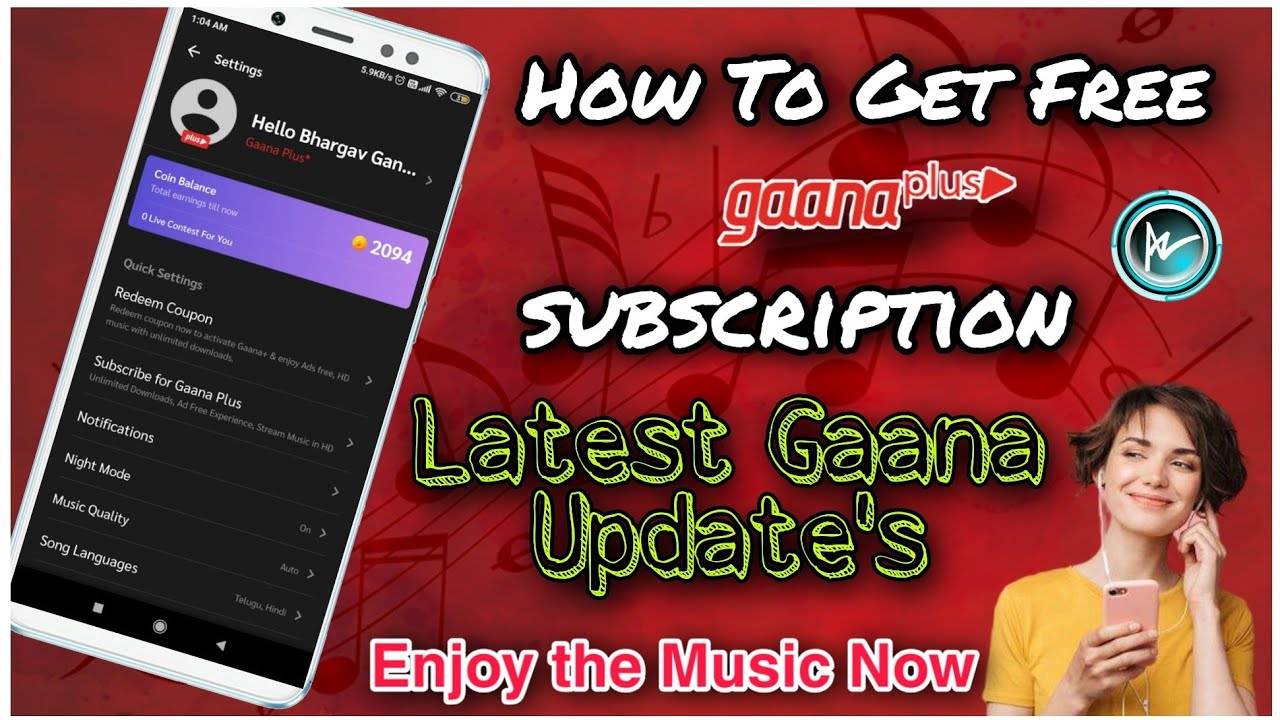 How To Get Gaana Plus Subscription For Free   Latest