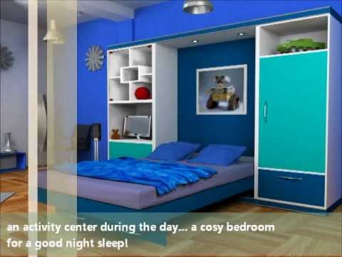 OnePlus Wall bed Kids Room - YouTube