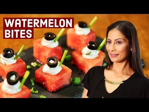 Quick Bites Recipe | Watermelon Bites | Quick & Healthy Recipes | Chef Meghna | Meghna's Food Magic