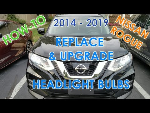 How to Replace Headlight Bulbs on 2017 Nissan Rogue (LED Upgrade / 2014-2018 Models)