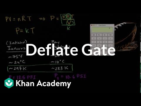 Deflate gate | Gases and kinetic molecular theory | Chemistry | Khan Academy
