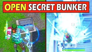 OPEN the SECRET BUNKER with the INFINITY BLADE? Fortnite Mythbusters (NEW UPDATE)