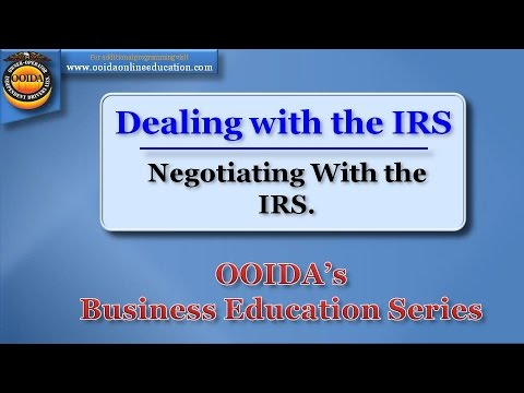 Negotiating with the IRS