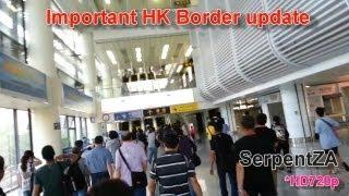 Important HK Border Update