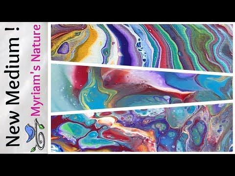 56] REVIEWING DecoArt's NEW Pouring MEDIUM - 3 dirty pours - craft paint - Acrylic Pouring Fluid Art