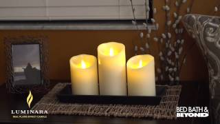 Luminara Flicker Pillar Candles At Bed Bath & Beyond