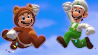 Super Mario 3D World Co-op Walkthrough - World 6 (All Green Stars & Stamps)
