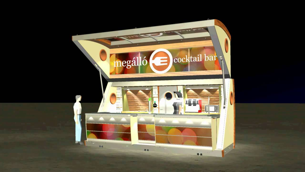 Mobil megallo hd3 youtube for Kiosco bar prefabricado