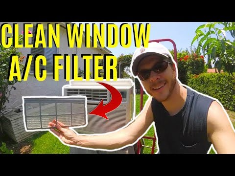 How To Clean Window AC Filter -Jonny DIY