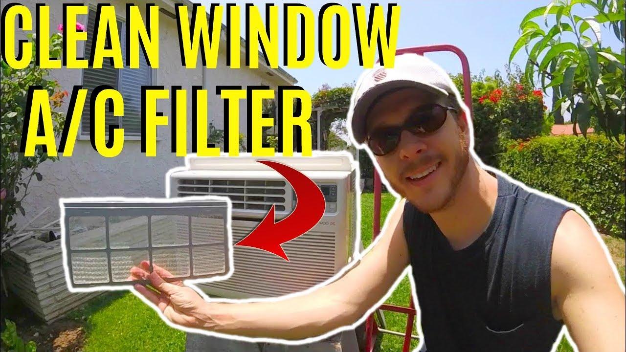 how to clean window ac filter jonny diy youtube. Black Bedroom Furniture Sets. Home Design Ideas