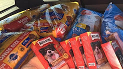DONATING 500 POUNDS OF DOG FOOD