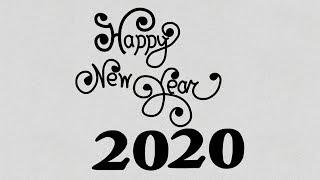 Happy New Year 2020 Drawing New Year Drawing Idea Happy New Year 2020 Shaem Art