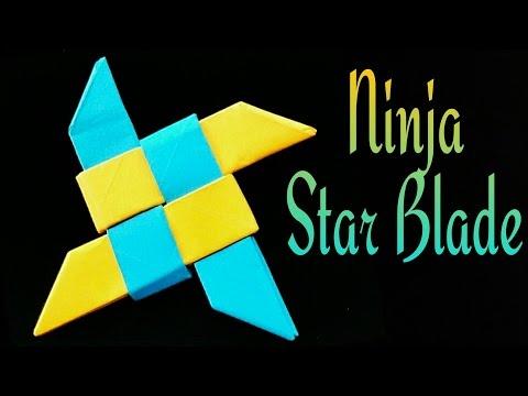 Ninja Star Blade Shuriken - DIY Origami Tutorial by Paper Folds