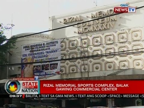 Rizal Memorial Sports Complex,   balak gawing commercial center