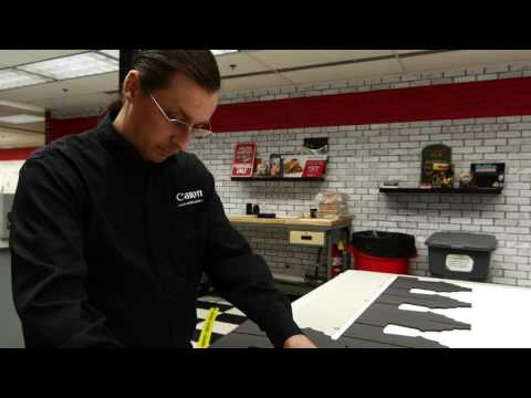 Creating Cutout Displays With the Océ Arizona 1280 GT Flatbed Printer from The App Room