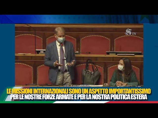 Il Sen. Malan interviene in discussione generale sulle missioni internazionali in corso