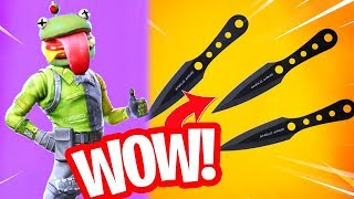 THROWING KNIVES IN FORTNITE!! ROTTEN DURR BURGER SKIN! Fortnite Battle Royale Concepts