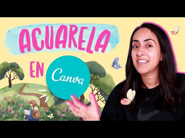Ideas creativas en Canva: diseña una obra de arte en Acuarela (Canva Pro) 🖌