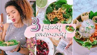 3 RECETTES DE SALADES + idées SAUCES VINAIGRETTES  🥗  Bo bun, pâtes au pesto & salade de lentilles