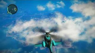 Epic Just Cause 2 stunt - Awesome helicopter catch!!