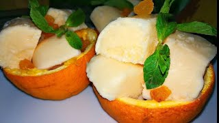 Апельсиновое мороженное