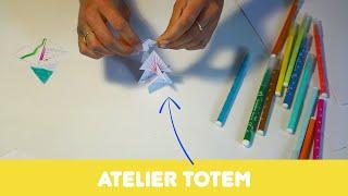 """Atelier """"Totem"""" autour du travail de Florence Reymond"""