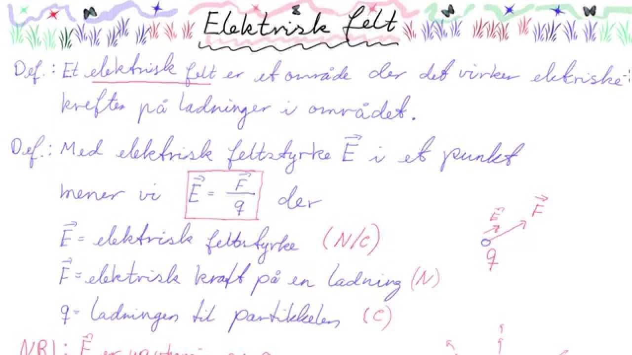 FYS2-062 Elektrisk felt