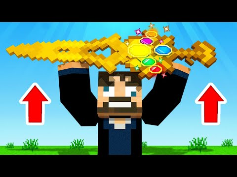 USING The *INFINITY SWORD* To BEAT MINECRAFT