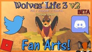 Roblox - Wolves' Life 3 v2 BETA - Fan Arts! #19 - HD
