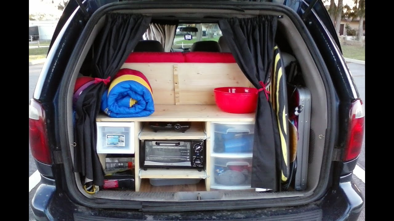 e18 minivan stealth camper reveal and tour minimalist van dwelling