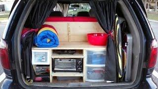 E18 Minivan Stealth Camper Reveal and Tour - Minimalist Van Dwelling Van Dwelling Vanlife