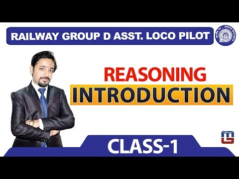 Introduction | Reasoning | Class - 1| Railway Recruitment Board | Railway ALP / Group D | 8 PM