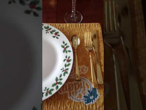 Green direct gold plastic cutlery set