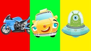 Learning Street Vehicles Names for Kids - Learn Cars, Bus, Double Decker, Ambulance, Police