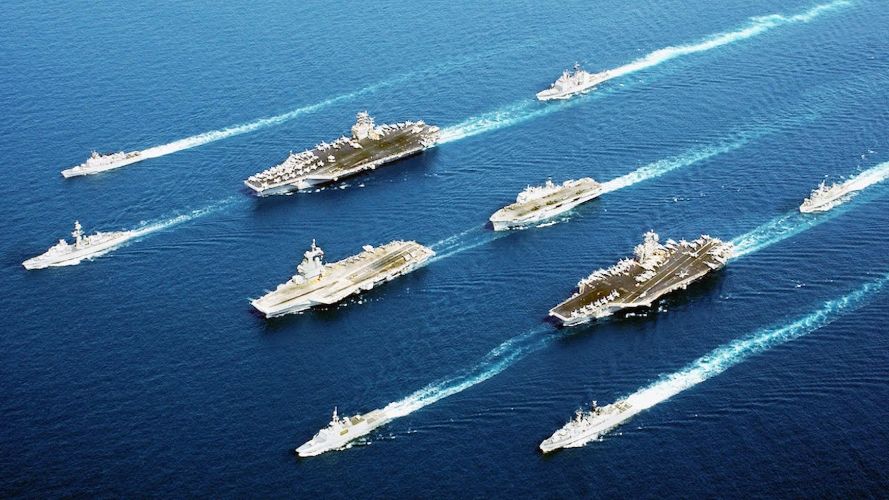 Image result for America's naval power, now over near North Korea