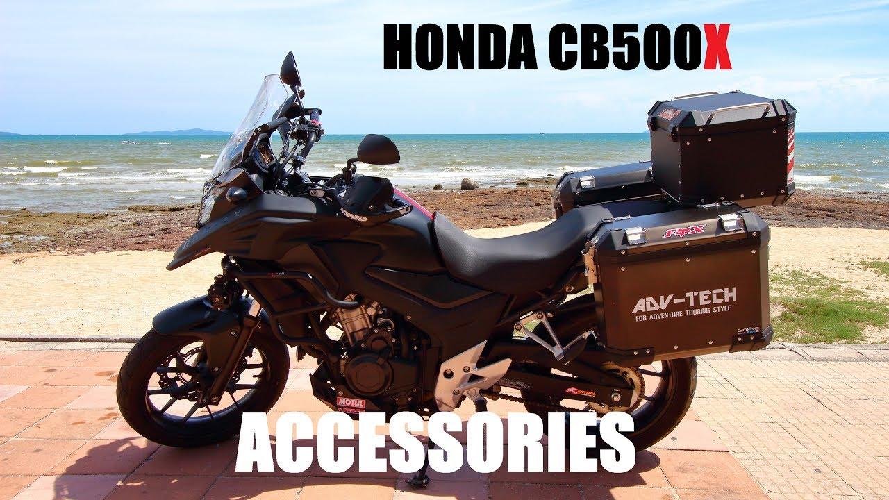 Honda CB500X Accessories BLACK TOURING Edition - YouTube